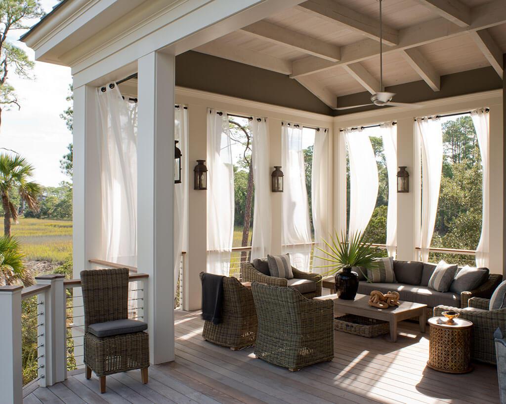 Hermosas Ideas de Cortinas para su Habitación Exterior