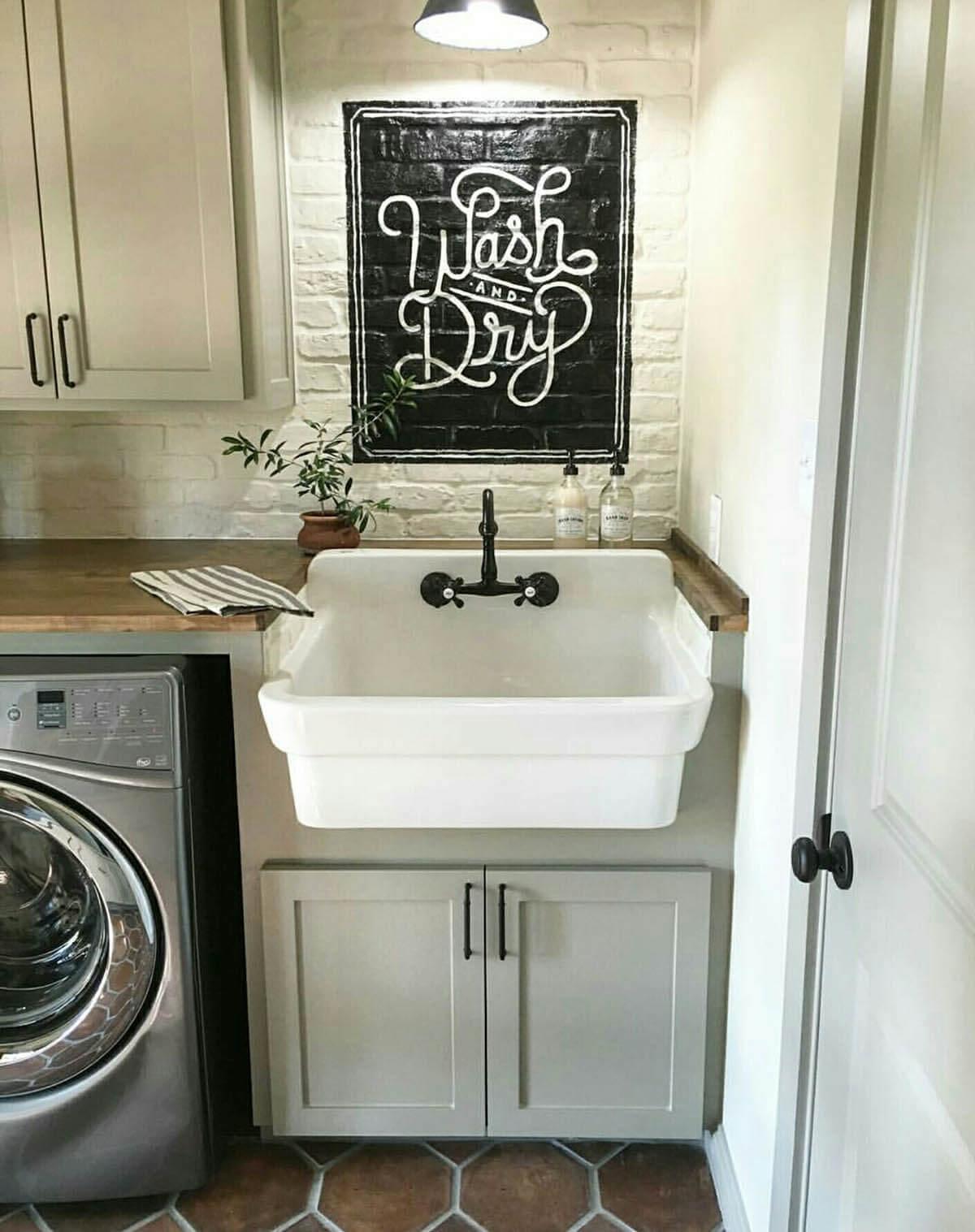 Ideas para Decorar el Cuarto de Lavado o Lavandería Estilo Vintage