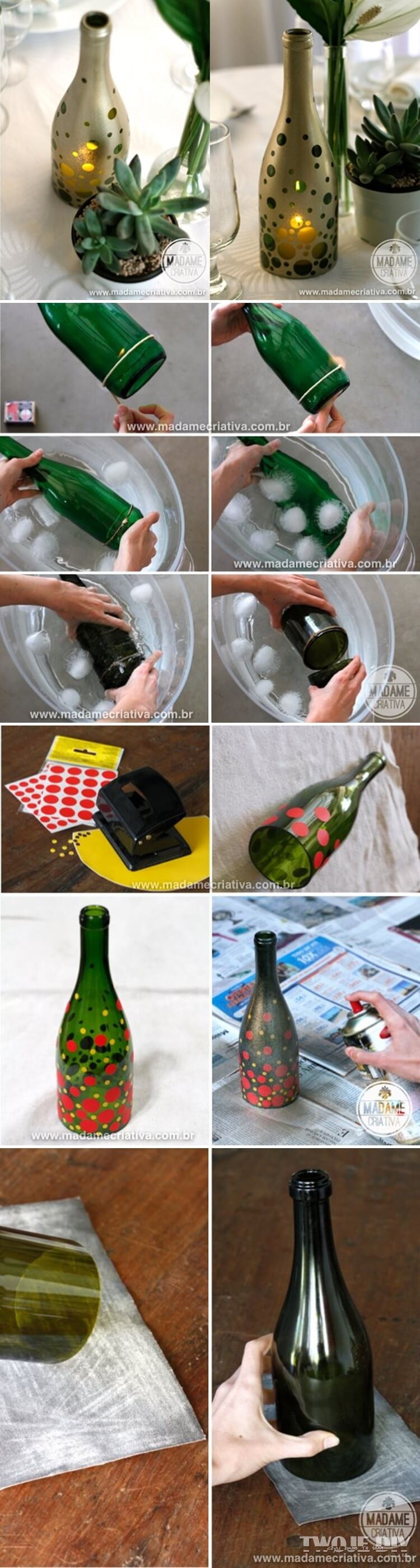 manualidades para reciclar botellas de vino 11