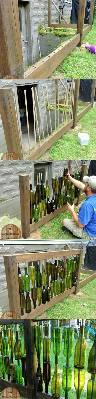 manualidades para reciclar botellas de vino 15