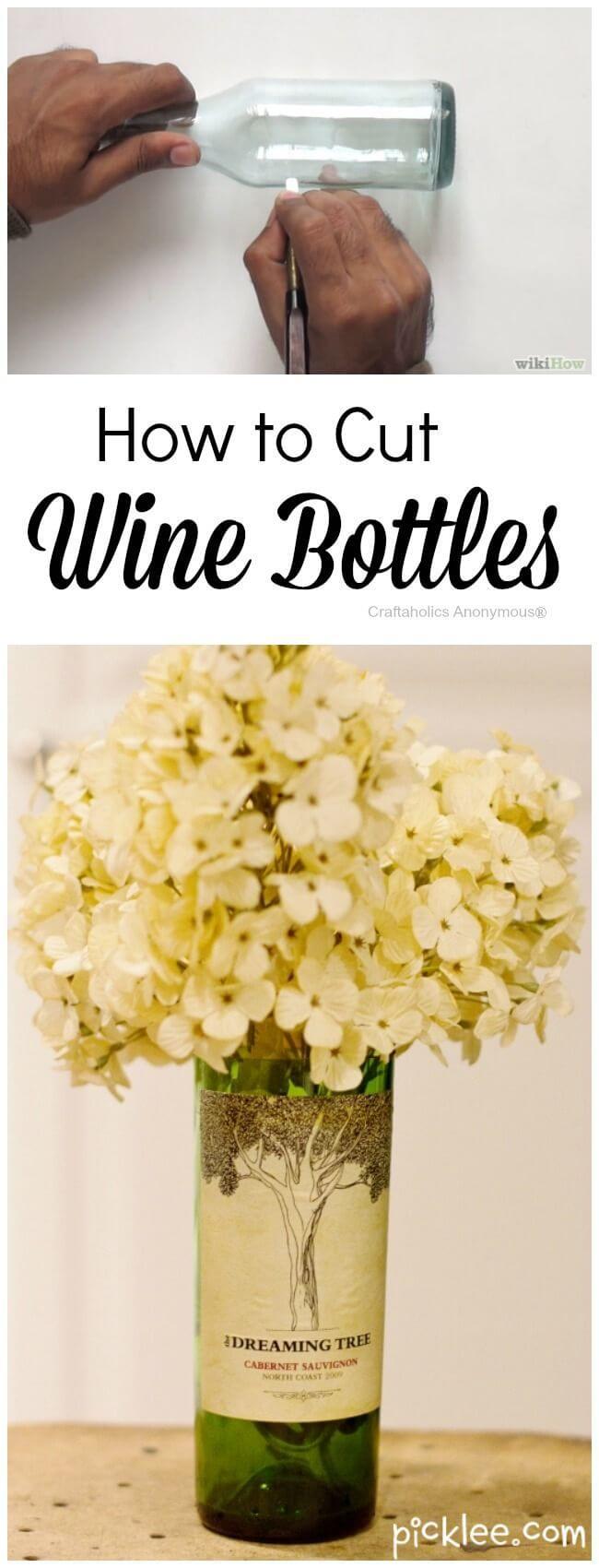 manualidades para reciclar botellas de vino 17