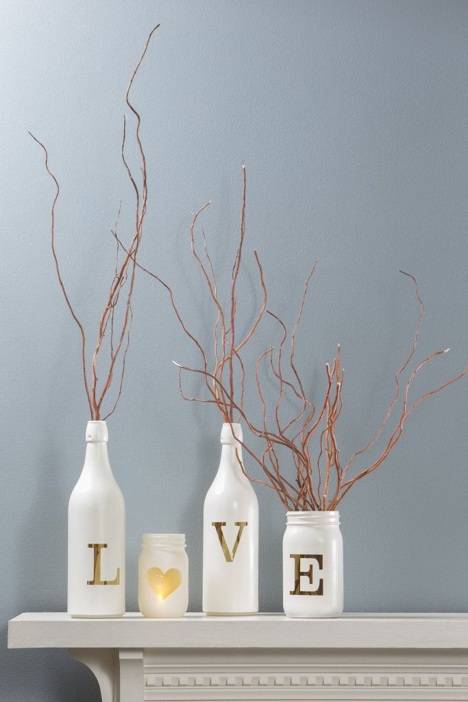 manualidades para reciclar botellas de vino 20
