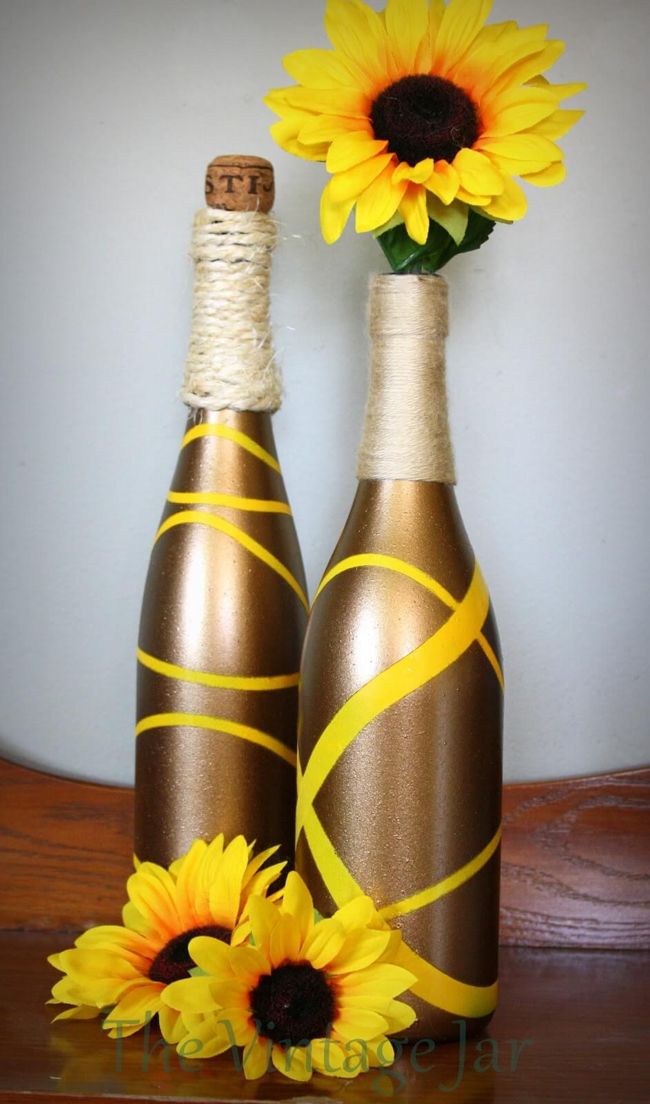 manualidades para reciclar botellas de vino 21