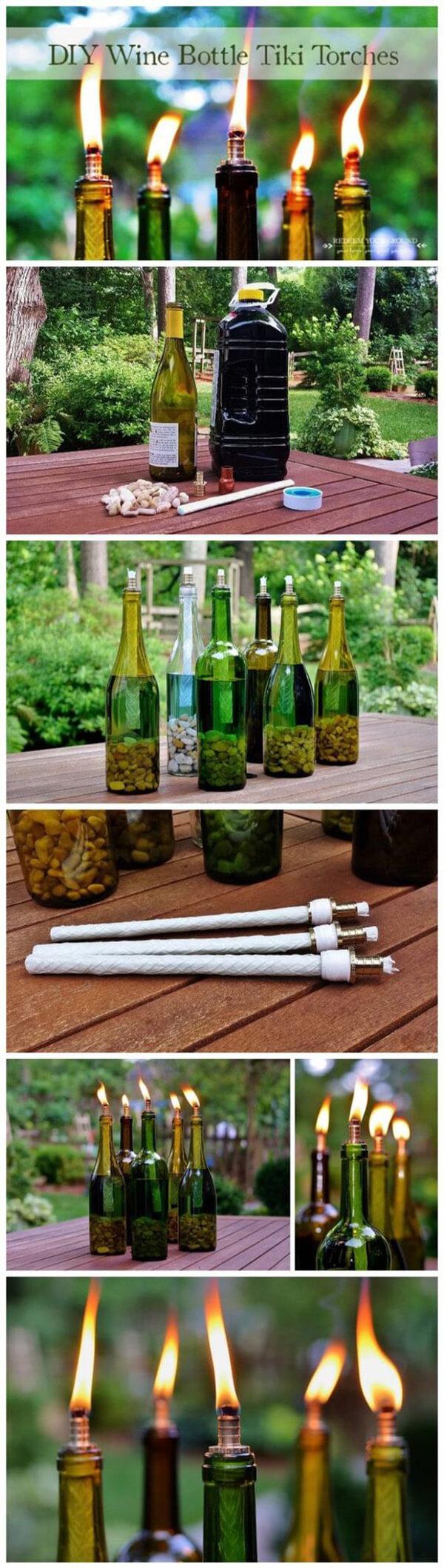 manualidades para reciclar botellas de vino 3
