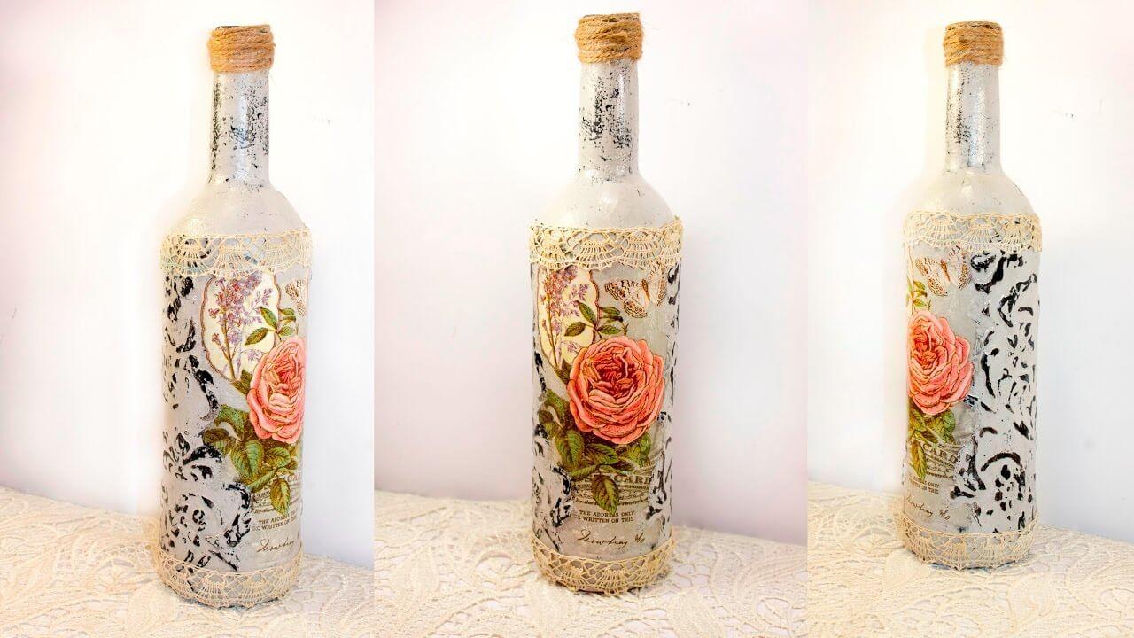 manualidades para reciclar botellas de vino 6