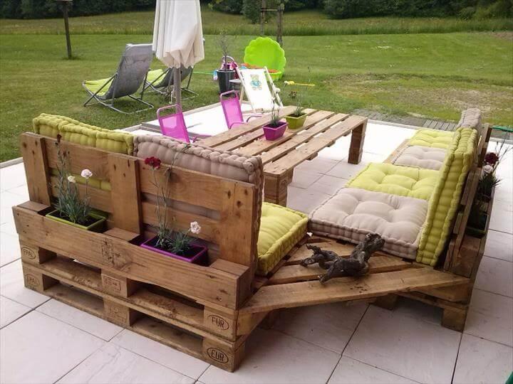 muebles paletas aire libre