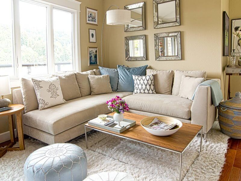salas modernas en color beige 15