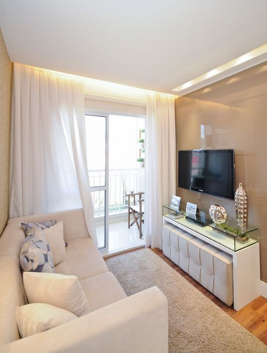 salas modernas en color beige 17