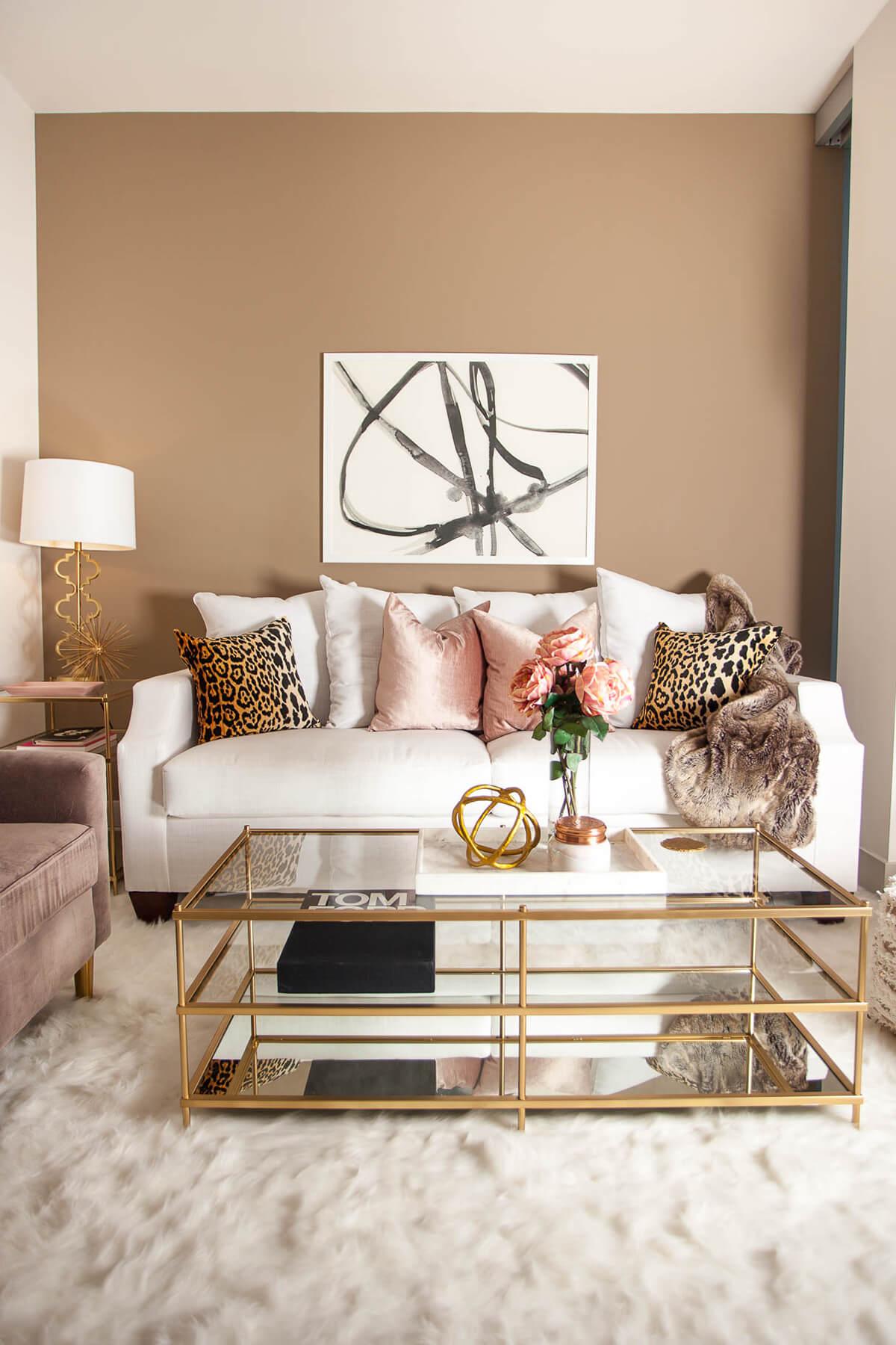 salas modernas en color beige 18