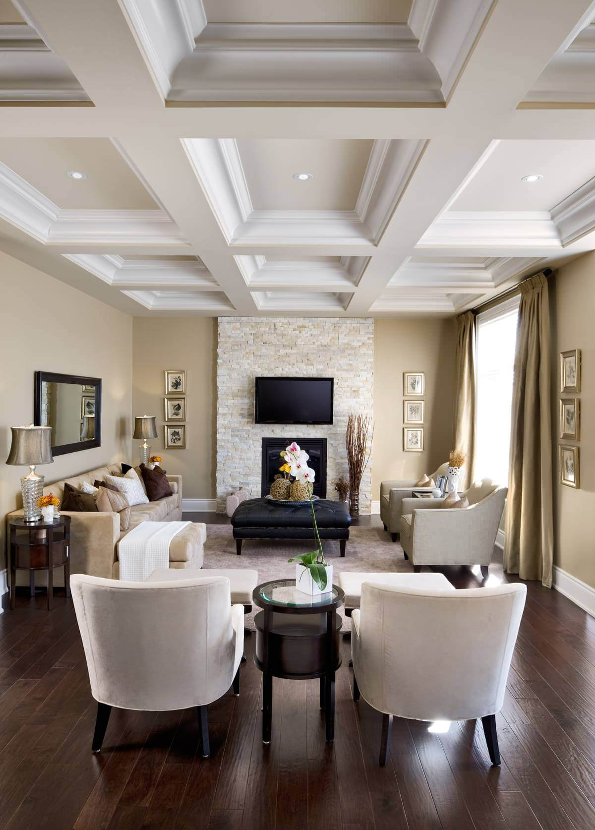 salas modernas en color beige 19