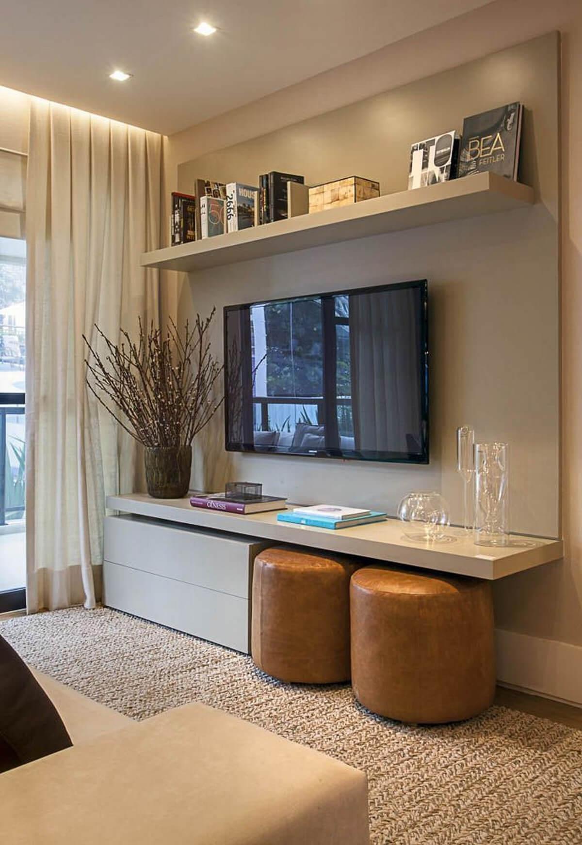 salas modernas en color beige 2