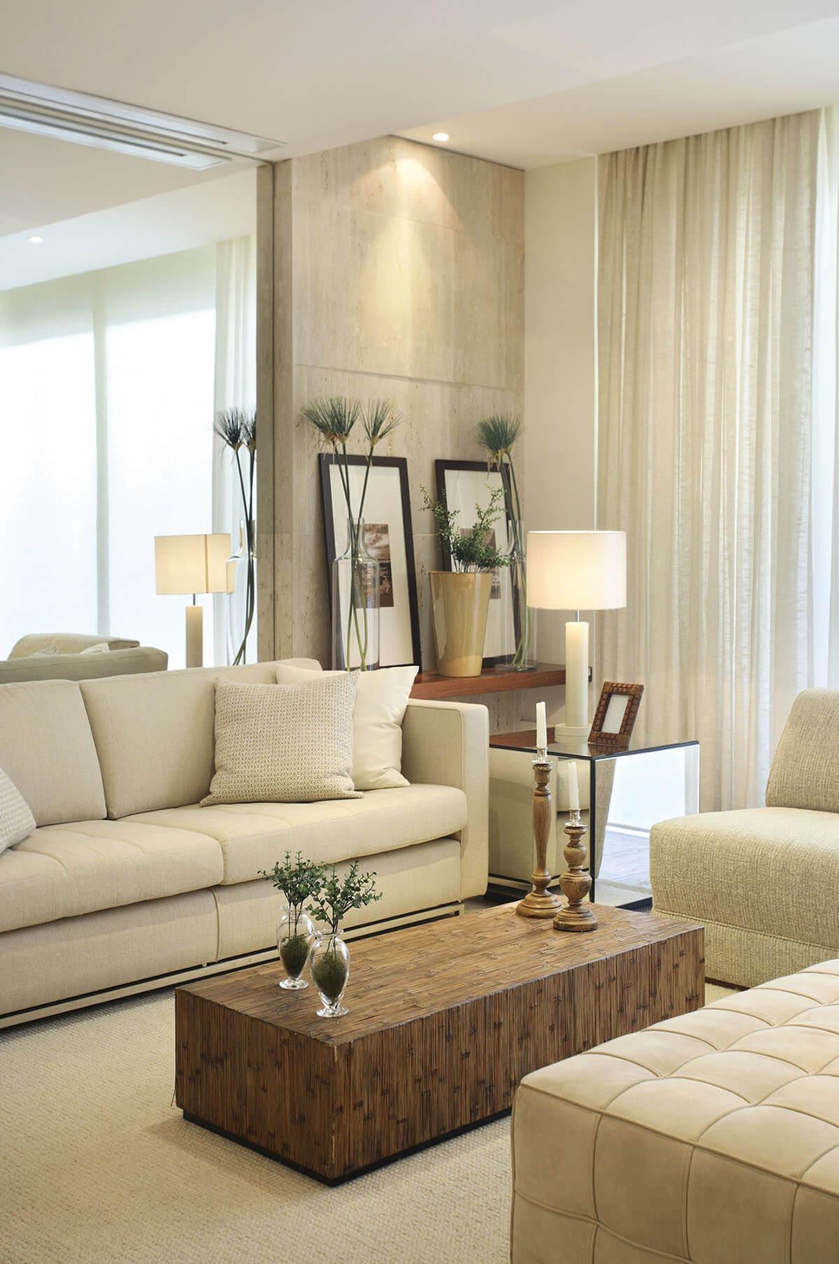 salas modernas en color beige 20