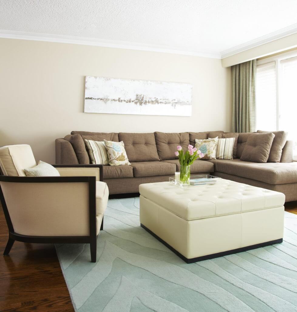 salas modernas en color beige 22