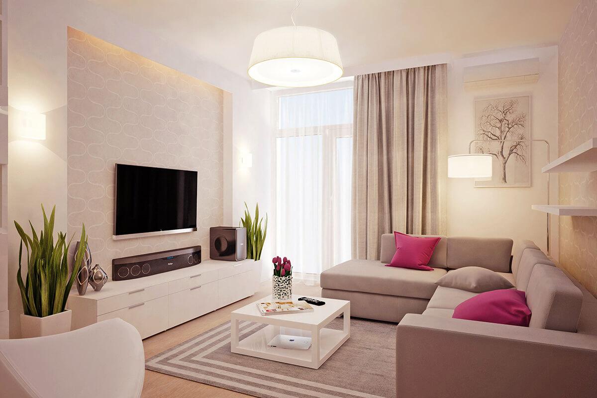 salas modernas en color beige 7