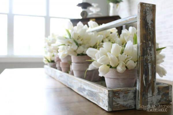 Ideas de Decoración de Bandejas Estilo Granja para un Interior Simple pero Encantador