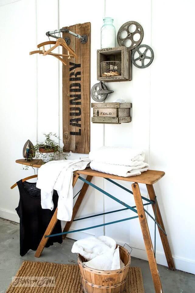 lavanderia estilo rustico 13
