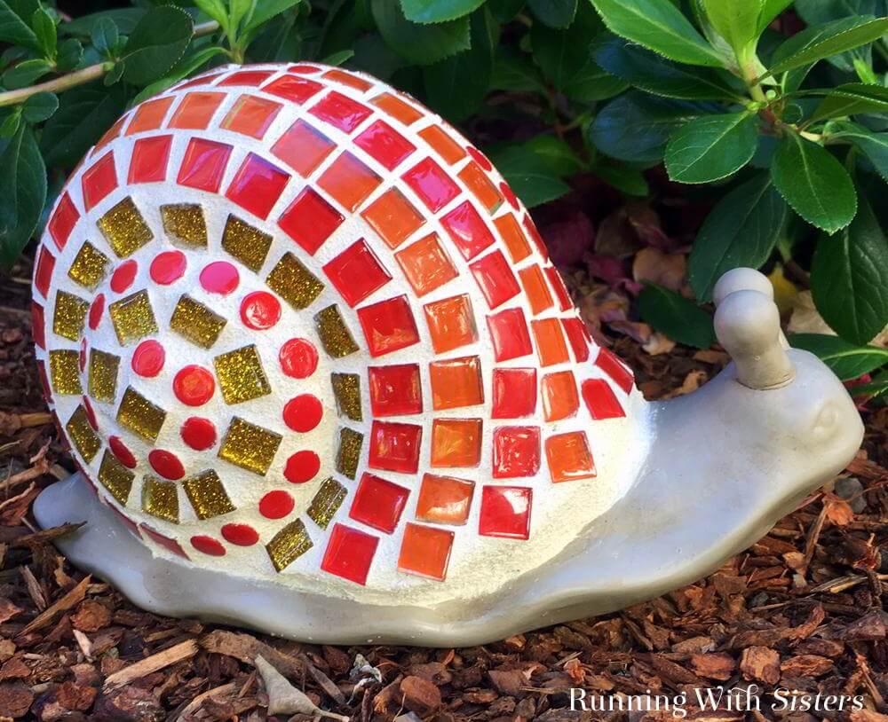 Brillantes Ideas de Mosaico de Bricolaje para Jardín