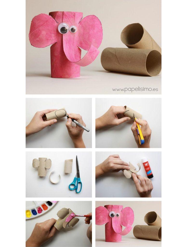manualidades con rollos de papel higienico 15