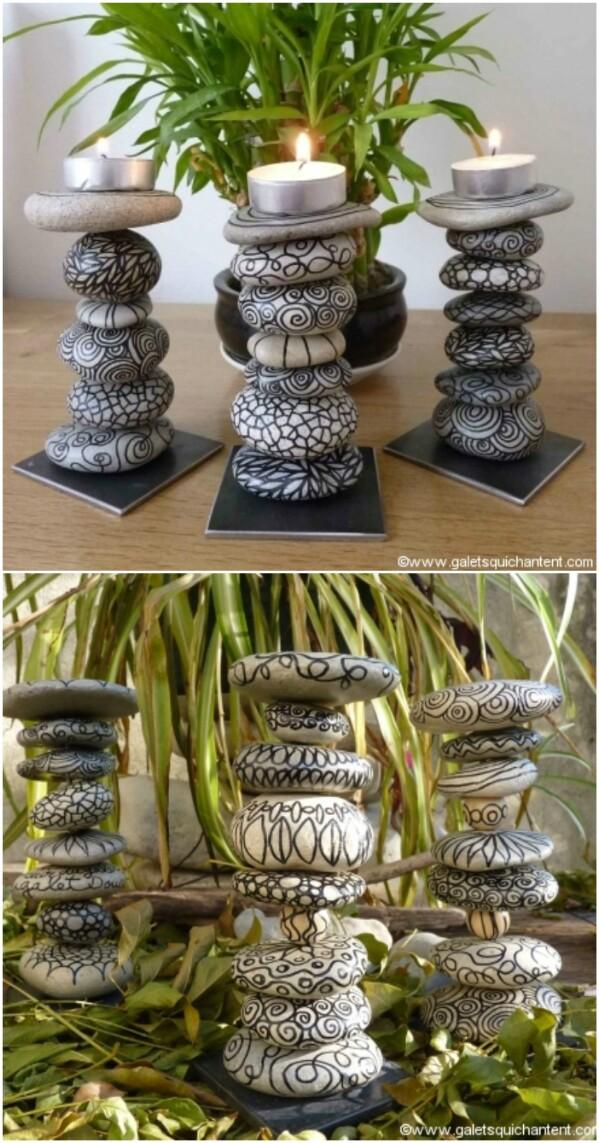 artesanias piedras guijarros 18
