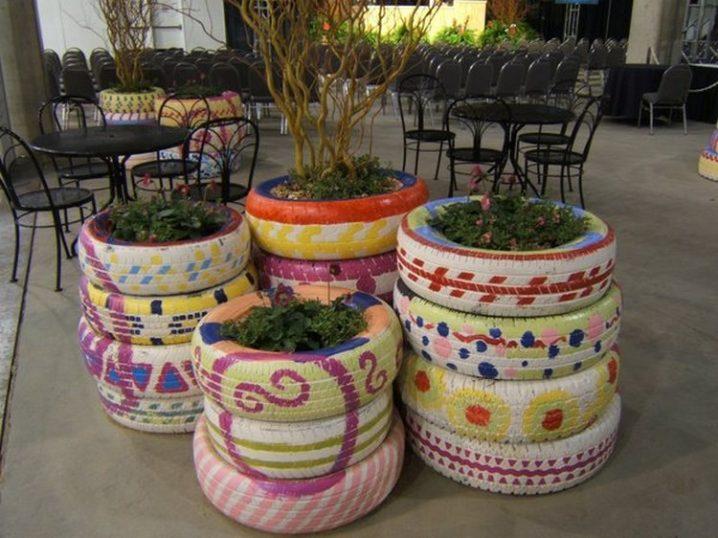 Fascinantes Jardineras de Flores con Neumáticos Viejos