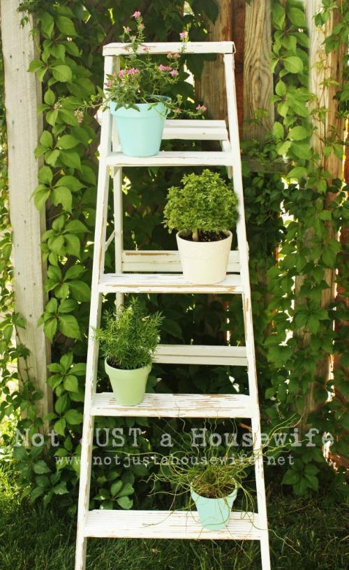 Ideas Sencillas para Reciclar una Escalera de Madera